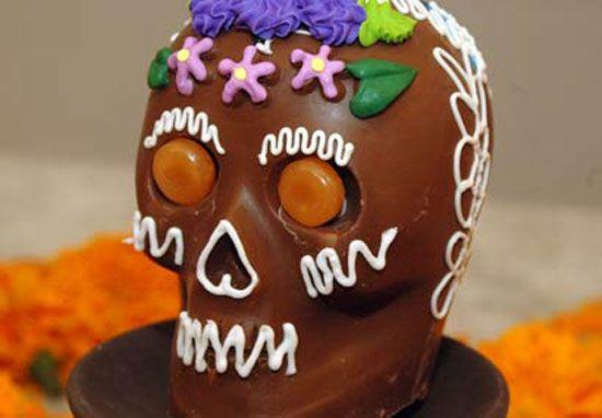 Como elaborar las Calaveras de chocolate