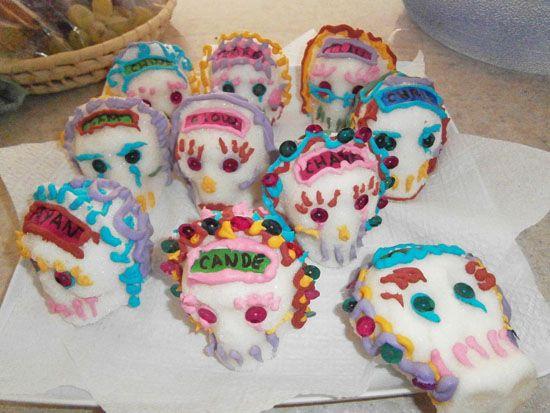 Calaveras dulces para el dia de los muertos
