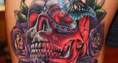 Tatuajes de calaveras con técnica de la nueva escuela