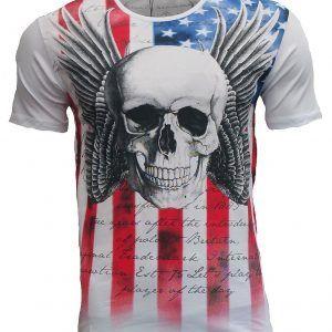 Camiseta flying de calavera Black Rock