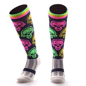 Samson-Hosiery-Dj-diseo-de-calavera-Funky-Novedad-Moda-Regalo-Calcetines-de-ftbol-RUGBY-deportes-y-Casual-rodilla-alta-calcetines-para-hombres-mujeres-nios-unisex-0