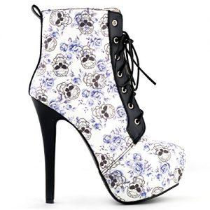 Show-Story-Sexy-calavera-Floral-negro-gtico-de-encaje-plataforma-Stiletto-taln-tobillo-botas-lf80837-0