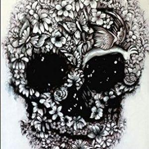 acrilico de calavera floral