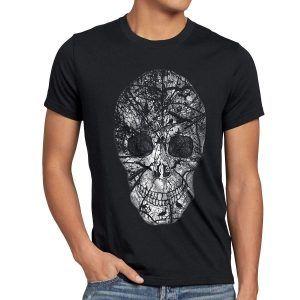 camiseta de calavera naturaleza