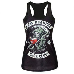 jarlif-Mujer-Calavera-Death-Scythe-Grim-Lectores-Book-Club-Tank-Tops-Cami-Camisas-0