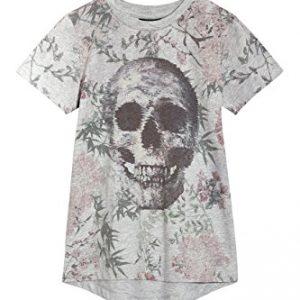 next-Nios-Camiseta-Calavera-Flores-Top-Ropa-Corte-Estndar-0