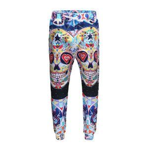pantalon hip hop de calaveras de colores