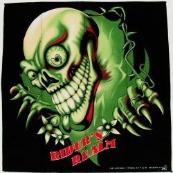 pañuelo con calavera verde